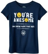 """Girls 4-6x Kid President """"You're Awesome"""" Graphic Tee"""