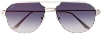 Cartier Santos de aviator-frame sunglasses