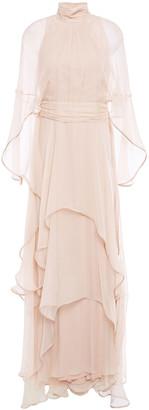 Alberta Ferretti Tiered Silk-chiffon Gown