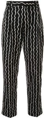 Charles Jeffrey Loverboy Wavy Striped Slim Trousers