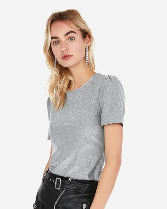 Express Sparkle Puff Sleeve Tee