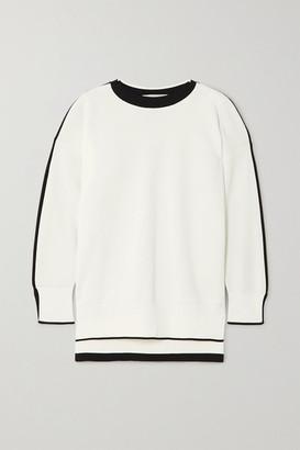 Stella McCartney Two-tone Knitted Sweater - White