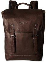 Kenneth Cole Reaction Colombian Leather - Computer Backpack (Brown) Backpack Bags