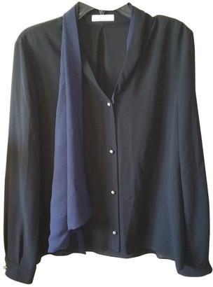 Bouchra Jarrar Black Silk Tops