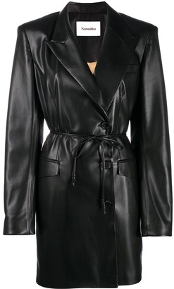 Nanushka Belted Faux- Leather Jacket