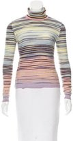 M Missoni Striped Turtleneck Sweater