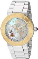 Invicta Women's 'Disney Limited Edition' Quartz Stainless Steel Casual Watch, Color:Silver-Toned (Model: 24498)