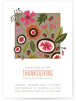 Minted Modern Quilt Holiday Party Invitations