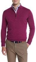 Peter Millar Merino Quarter-Zip Sweater, Raspberry