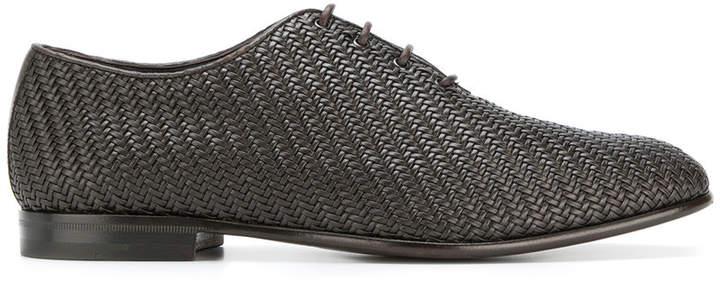 Ermenegildo Zegna woven Oxford shoes