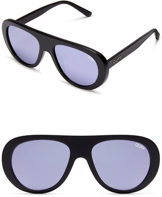 Quay Bold Move 54mm Round Sunglasses