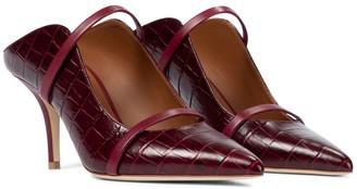 Malone Souliers Maureen 70 croc-effect leather mules