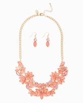 Charming charlie Iridescent Bouquet Necklace Set