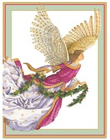 Caspari Angel with Gilded Wings Christmas Cards, Box of 16