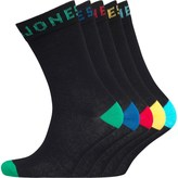 Jack and Jones Mens Five Pack Socks Black