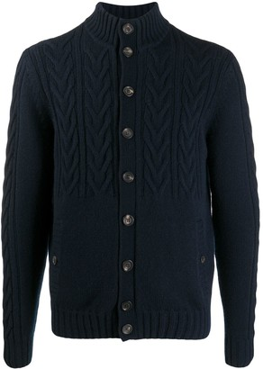 Malo Cable-Knit Cashmere Cardigan