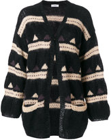 Closed patterned open cardigan