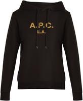 A.P.C. Logo-print hooded cotton sweatshirt