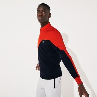 Lacoste Men's SPORT Breathable Knit Crew Neck Golf Sweater
