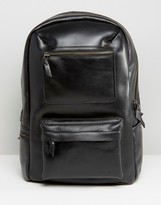 Royal Republiq Leather Track Backpack In Black