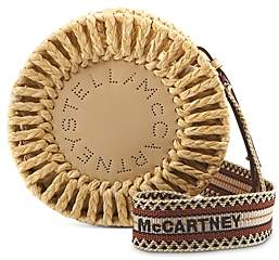 Stella McCartney Circle Logo Open-Weave Shoulder Bag