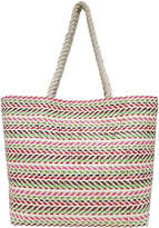 Asstd National Brand Multi Stripe Large Tote Bag
