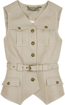 Linen twill waistcoat
