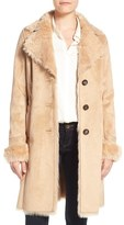 Women's Badgley Mischka Faux Shearling Lined Coat