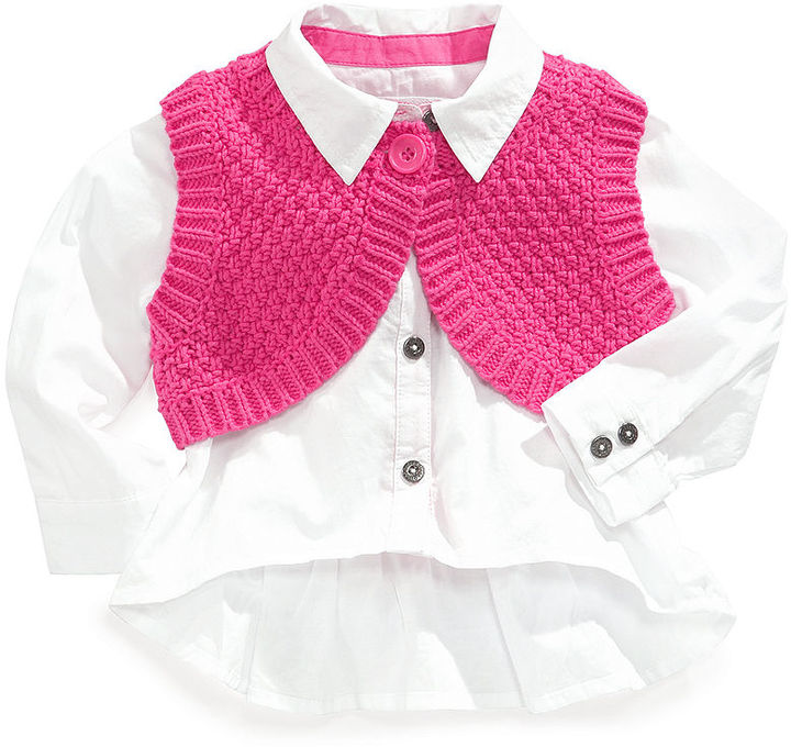 GUESS Set, Baby Girls 2-Piece Bolero and Shirt