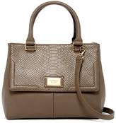 Tignanello Gracisous Style Triple Entry Leather Satchel