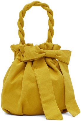 STAUD Yellow Nylon Grace Bow Bag