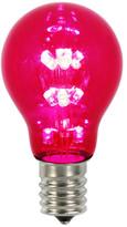 Vickerman A19 LED Transparent Bulb E26 Neck Base, Red