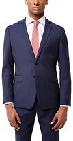 Jaeger Wool Gingham Slim Fit Suit Jacket, Navy