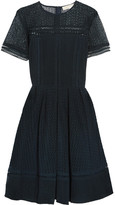 MICHAEL Michael Kors Broderie Anglaise Cotton-blend Dress - Midnight blue