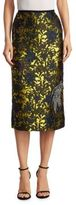 Erdem Floral Beaded Pencil Skirt