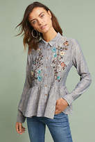 Hd In Paris Ella Embroidered Peplum Shirt