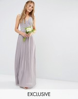 TFNC WEDDING Pleated Embellished Maxi Dress