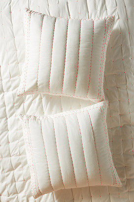 Anthropologie Embroidered Blanche Euro Sham By in Pink Size EURO SHAM