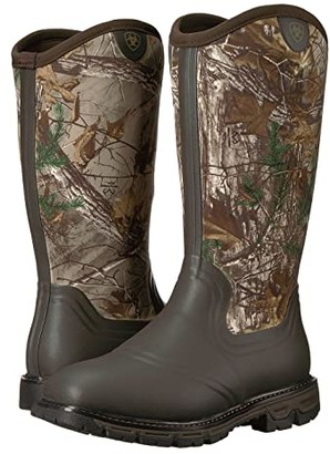 Ariat Conquest Rubber Insulated (Dark Brown/Realtree Xtra) Men's Pull-on Boots