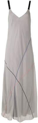 M·A·C Mara Mac contrasting stitches maxi dress