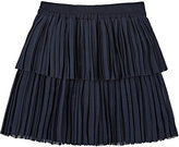 "Little Remix Sea Shell"" Pleated Crepe Skirt"