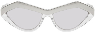 Bottega Veneta Silver Cat-Eye Sunglasses