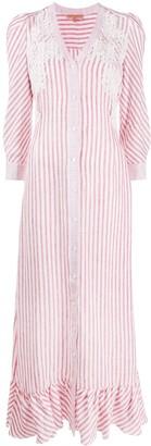Ermanno Scervino Vertical-Stripe Long Shirt Dress