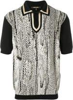 Roberto Cavalli snake print polo shirt
