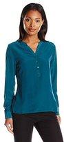 Dockers Women's Tunic Popover Long Sleeve Shirt