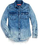 Blank NYC BLANKNYC Girls' Ombré Chambray Shirt - Big Kid