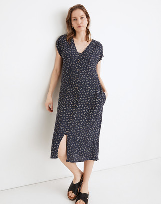 Madewell Easy Midi Dress in Spring Fling