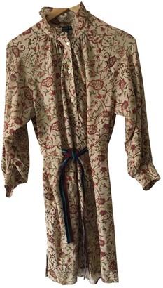 soeur Beige Silk Dress for Women