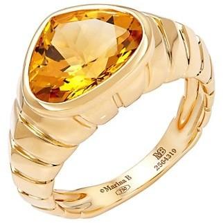 MARINA B 18K Yellow Gold & Citrine Ring