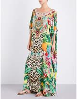 Camilla Floral-print silk-georgette kaftan